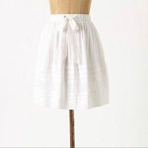 Anthropologie Drawing Parallel Cotton Skirt